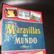 Coleccionismo Álbum: ALBUM DE CROMOS MARAVILLAS DEL MUNDO ALBUM I - BRUGUERA 1956 CROMO COMPLETO. Lote 194881851