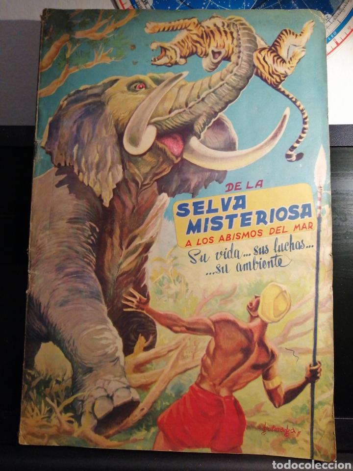 ALBUM DE CROMOS COMPLETO DE LA SELVA MISTERIOSA A LOS ABISMOS DEL MAR (Coleccionismo - Cromos y Álbumes - Álbumes Completos)