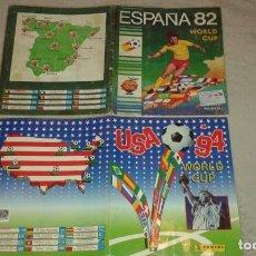 Coleccionismo Álbum: LOTE DE 2 ÁLBUMES COMPLETOS DE PANINI: ESPAÑA 82 Y USA 94. Lote 195021422