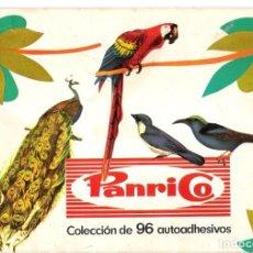 Coleccionismo Álbum: CROMOS PAJAROS ALBUM COMPLETO 96 UNIDADES- PANRICO-. Lote 195033540