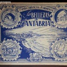 Coleccionismo Álbum: LAS BELLEZAS DE CANTABRIA - AÑOS 40 - COMPLETO. Lote 195053390