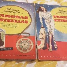 Coleccionismo Álbum: 2 ALBUM PRIMERO Y SEGUNDO FAMOSAS ESTRELLAS COMPLETOS Y EN PERFECTO ESTADO. Lote 195054958