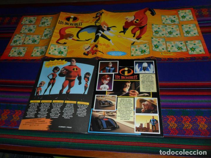 Coleccionismo Álbum: CON PÓSTER, LOS INCREÍBLES COMPLETO. PANINI 2004. DISNEY PIXAR. BUEN ESTADO. - Foto 2 - 195084508