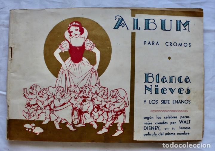 ALBUM PARA CROMOS -BLANCA NIEVES Y LOS 7 ENANOS- FHER- 1940- ALBUM COMPLETO. (Coleccionismo - Cromos y Álbumes - Álbumes Completos)