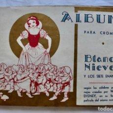 Coleccionismo Álbum: ALBUM PARA CROMOS -BLANCA NIEVES Y LOS 7 ENANOS- FHER- 1940- ALBUM COMPLETO.. Lote 195101241