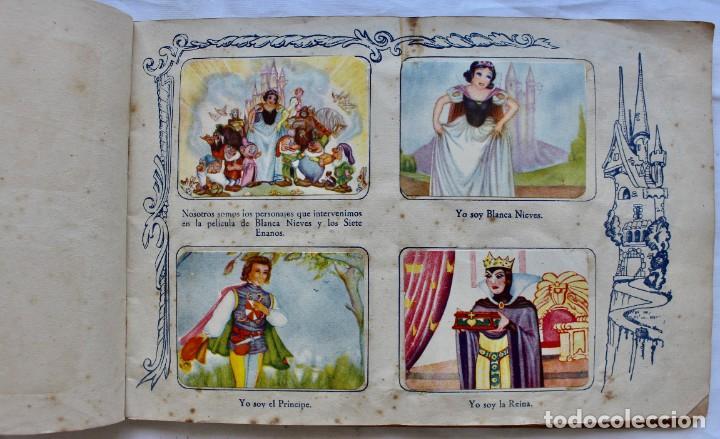 Coleccionismo Álbum: ALBUM PARA CROMOS -BLANCA NIEVES Y LOS 7 ENANOS- FHER- 1940- ALBUM COMPLETO. - Foto 3 - 195101241