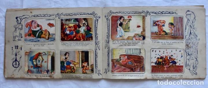 Coleccionismo Álbum: ALBUM PARA CROMOS -BLANCA NIEVES Y LOS 7 ENANOS- FHER- 1940- ALBUM COMPLETO. - Foto 10 - 195101241