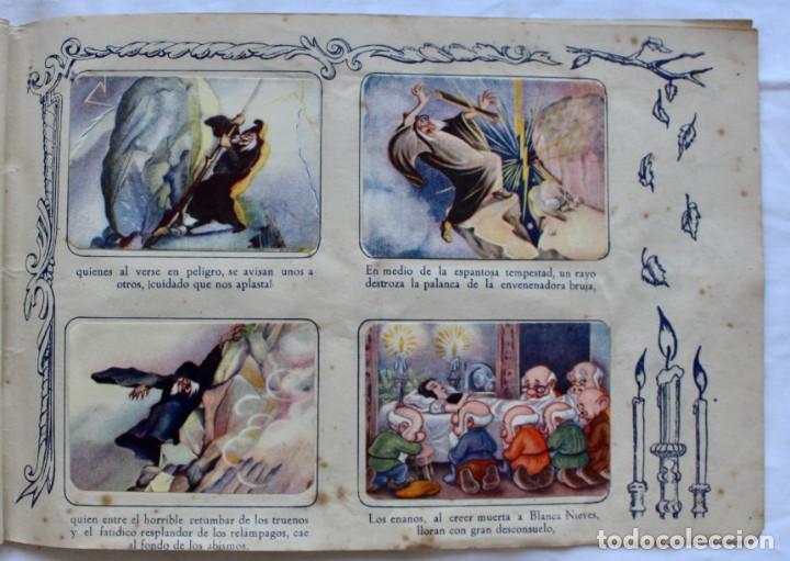 Coleccionismo Álbum: ALBUM PARA CROMOS -BLANCA NIEVES Y LOS 7 ENANOS- FHER- 1940- ALBUM COMPLETO. - Foto 11 - 195101241