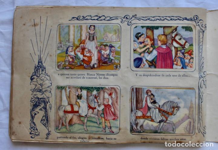 Coleccionismo Álbum: ALBUM PARA CROMOS -BLANCA NIEVES Y LOS 7 ENANOS- FHER- 1940- ALBUM COMPLETO. - Foto 12 - 195101241