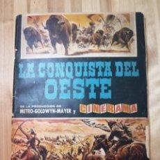 Coleccionismo Álbum: ALBUM COMPLETO LA CONQUISTA DEL OESTE ED BRUGUERA AÑO 1963. Lote 195138401
