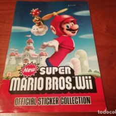 Coleccionismo Álbum: ALBUM NEW SUPER MARIO BROS WII STICKER COLLECTION COMPLETO . Lote 195144176