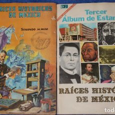 Coleccionismo Álbum: RAICES HISTÓRICAS DE MEXICO - ALBUM 2º Y 3º (1967) - NOVARO ¡COMPLETOS!. Lote 195144501