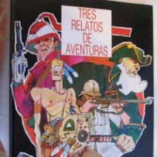 Coleccionismo Álbum: TRES RELATOS DE AVENTURAS , MONTE DE PIEDAD Y CAJA DE AHORROS DE SEVILLA 1985 - COMPLETO. Lote 195191396