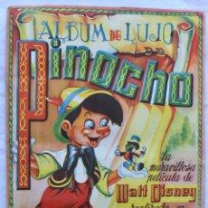Coleccionismo Álbum: PINOCHO, ALBUM DE LUJO , COMPLETO CON TODOS LOS CROMOS. 25X43 CM.. Lote 195193671