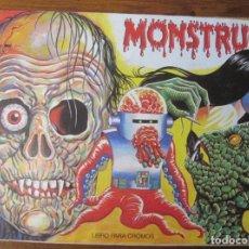 Coleccionismo Álbum: MONSTRUOS, ALBUM DE CROMOS COMPLETO. Lote 195206107