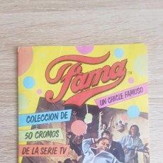 Coleccionismo Álbum: ÁLBUM FAMA. UN CHICLE FAMOSO. 1983. COMPLETO (10 PÁGINAS) SERIE TV. MUY RARO.. Lote 195243078