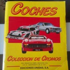 Coleccionismo Álbum: ÁLBUM CROMOS COHES MOTOR 16 EDICIONES UNIDAS COMPLETO. Lote 195245647