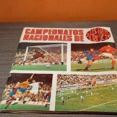 Coleccionismo Álbum: ALBUM CAMPEONATOS NACIONALES DE FÚTBOL 71/72 CASI COMPLETO MAS 11 CROMOS DOBLES. Lote 195260456