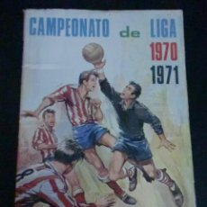Coleccionismo Álbum: ÁLBUM CAMPEONATO DE LIGA 1970 1971 DISGRA AÑO 1970 FALTA SÓLO 1 CROMO. Lote 195264660