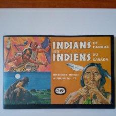Coleccionismo Álbum: INDIOS DE CANADA UNICO EN T.C. Lote 195271417