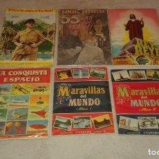 Coleccionismo Álbum: COLECCIONISTAS : LOTE 6 ÁLBUMES EDITORIALES BRUGUERA Y FHER. Lote 195303325