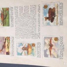 Coleccionismo Álbum: 17 VEHICULOS AEREOSSELLOS AHORRO INFANTIL CAJA AHORROS ZARAGOZA COMPLETO SELLADO. Lote 195324030