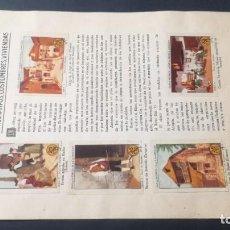 Coleccionismo Álbum: 2 ARAGON TIPOS COSTUMBRES VIVENCIASSELLOS AHORRO INFANTIL CAJA AHORROS ZARAGOZA COMPLETO SELLADOC. Lote 195325521
