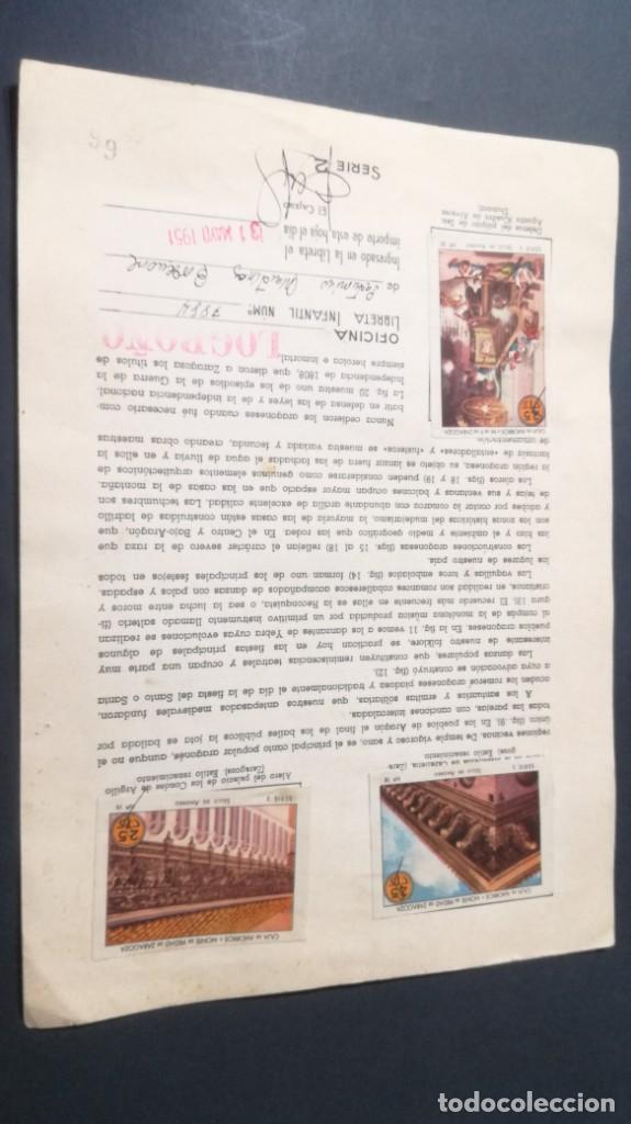 Coleccionismo Álbum: 2 ARAGON TIPOS COSTUMBRES VIVENCIASSELLOS AHORRO INFANTIL CAJA AHORROS ZARAGOZA COMPLETO SELLADOC - Foto 2 - 195325521