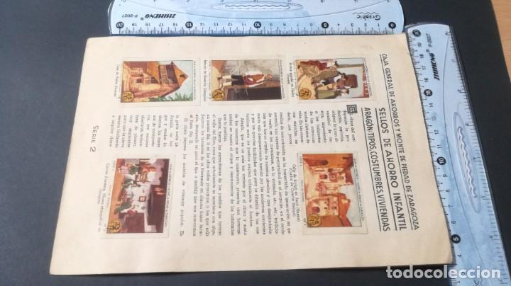 Coleccionismo Álbum: 2 ARAGON TIPOS COSTUMBRES VIVENCIASSELLOS AHORRO INFANTIL CAJA AHORROS ZARAGOZA COMPLETO SELLADOC - Foto 4 - 195325521