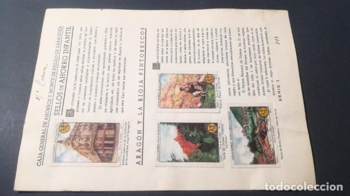 1 ARAGON RIOJA PINTORESCOSSELLOS AHORRO INFANTIL CAJA AHORROS ZARAGOZA COMPLETO SELLADOCP B-1 (Coleccionismo - Cromos y Álbumes - Álbumes Completos)