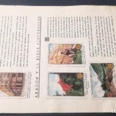 Coleccionismo Álbum: 1 ARAGON RIOJA PINTORESCOSSELLOS AHORRO INFANTIL CAJA AHORROS ZARAGOZA COMPLETO SELLADOCP B-1. Lote 195325716