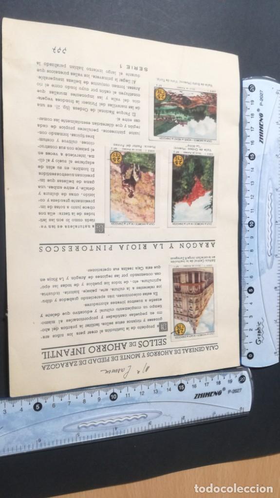 Coleccionismo Álbum: 1 ARAGON RIOJA PINTORESCOSSELLOS AHORRO INFANTIL CAJA AHORROS ZARAGOZA COMPLETO SELLADOCP B-1 - Foto 4 - 195325716