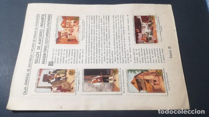 2 ARAGON TIPOS COSTUMBRES VIVENCIASSELLOS AHORRO INFANTIL CAJA AHORROS ZARAGOZA COMPLETO SELLADOC (Coleccionismo - Cromos y Álbumes - Álbumes Completos)