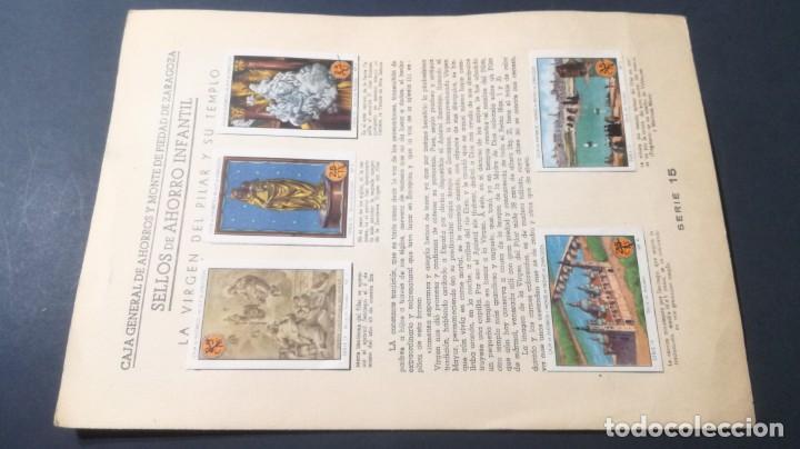 15 VIRGEN PILAR TEMPLOSELLOS AHORRO INFANTIL CAJA AHORROS ZARAGOZA COMPLETO SELLADOCP B-1 (Coleccionismo - Cromos y Álbumes - Álbumes Completos)