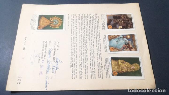 Coleccionismo Álbum: 15 VIRGEN PILAR TEMPLOSELLOS AHORRO INFANTIL CAJA AHORROS ZARAGOZA COMPLETO SELLADOCP B-1 - Foto 2 - 195325875