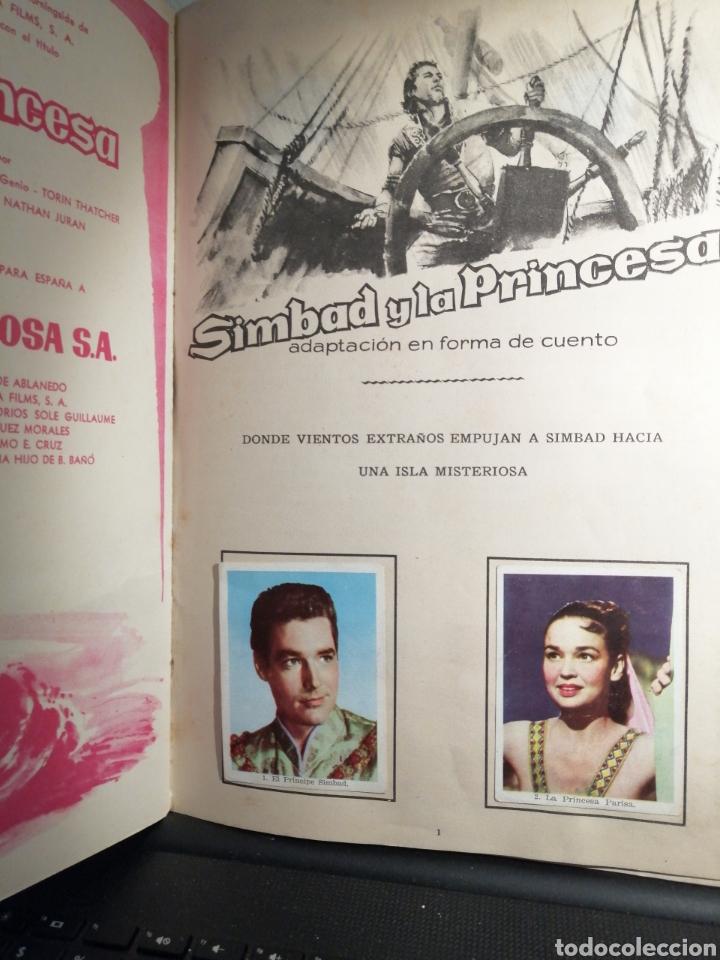 Coleccionismo Álbum: Album de cromos Completo SIMBAD Y LA PRINCESA CHOCOLATES JUNCOSA - Foto 2 - 195327832