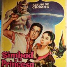 Coleccionismo Álbum: ALBUM DE CROMOS COMPLETO SIMBAD Y LA PRINCESA CHOCOLATES JUNCOSA. Lote 195327832