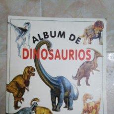 Coleccionismo Álbum: ÁLBUM DE DINOSAURIOS COMPLETO. Lote 195338655