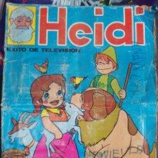 Coleccionismo Álbum: ALBUM CROMOS - HEIDI EXITO DE TELEVISION, FHER, AÑO 1975 - COMPLETO. Lote 195363653