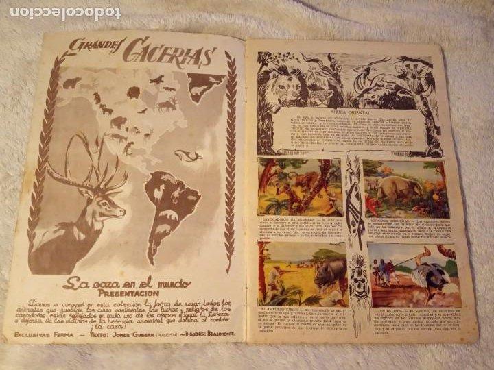 Coleccionismo Álbum: ALBUM GRANDES CACERIAS FERMA CASI COMPLETO FALTAN SOLO TRES CROMOS DIBUJOS DE BEAUMONT - Foto 3 - 195376385