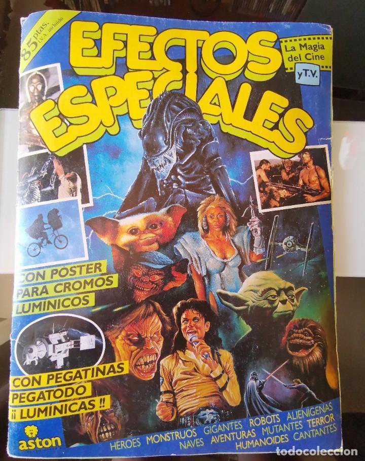 ÁLBUM CROMOS EFECTOS ESPECIALES ED. ASTON COMPLETO CON PÓSTER MBE (Coleccionismo - Cromos y Álbumes - Álbumes Completos)