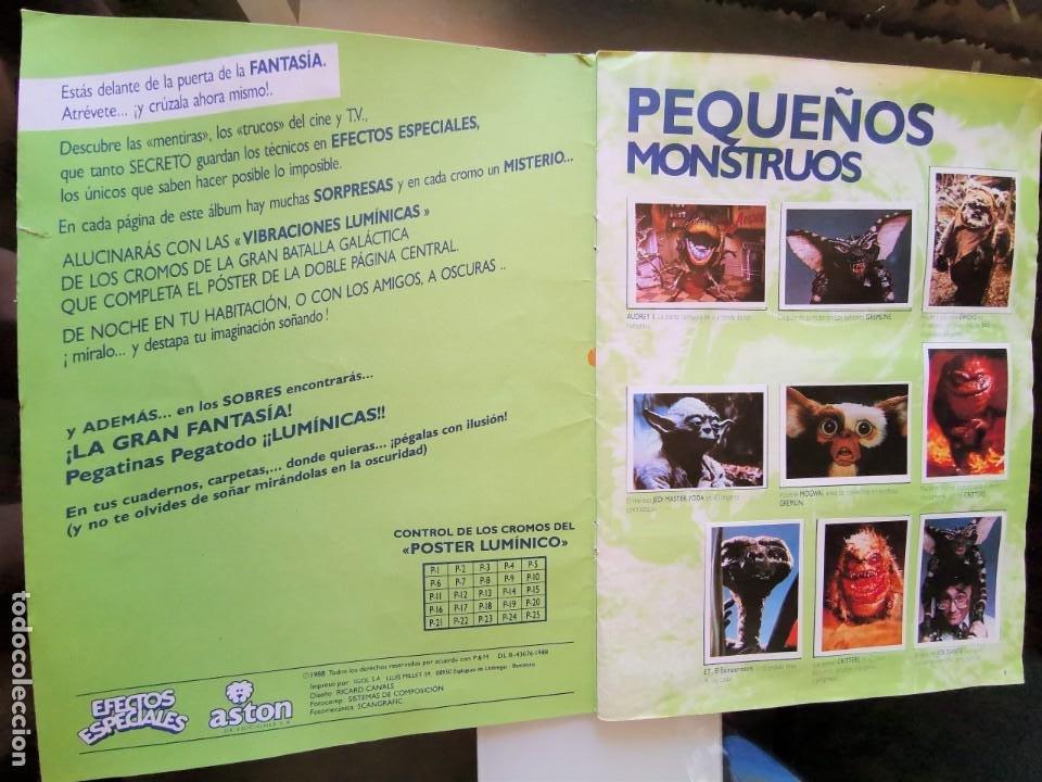 Coleccionismo Álbum: ÁLBUM CROMOS EFECTOS ESPECIALES ED. ASTON COMPLETO CON PÓSTER MBE - Foto 2 - 195387428