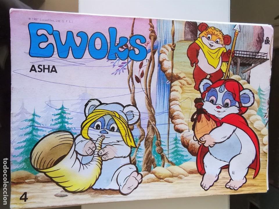 LIBRO PANORÁMICOS EWOKS STAR WARS ED. ROMA 1987 Nº 4 ASHA (Coleccionismo - Cromos y Álbumes - Álbumes Completos)
