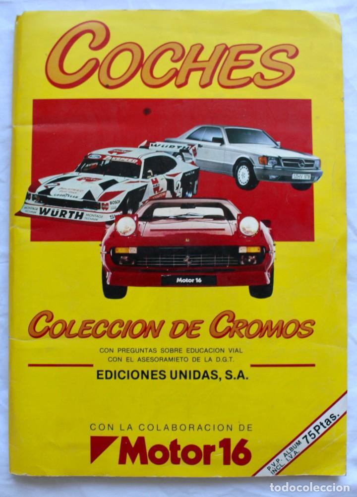 ALBUM CROMOS COCHES MOTOR 16 EDICIONES UNIDAS COMPLETO (Coleccionismo - Cromos y Álbumes - Álbumes Completos)