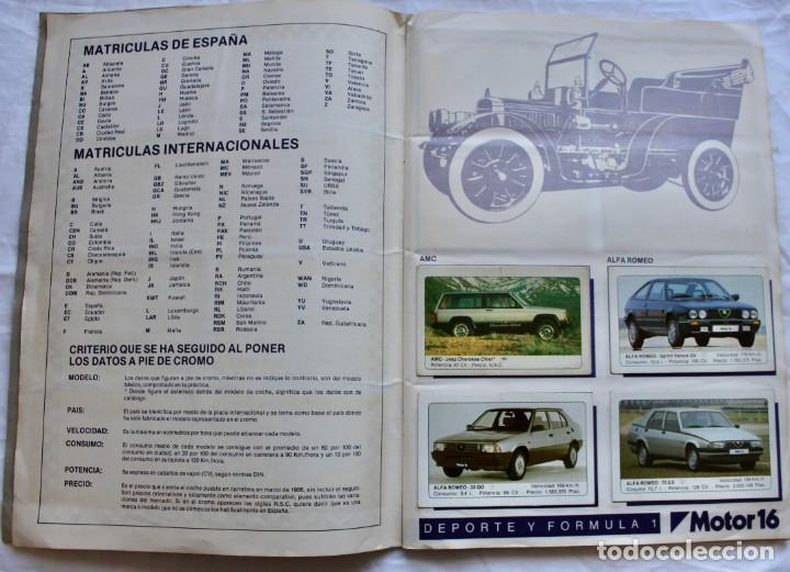 Coleccionismo Álbum: ALBUM CROMOS COCHES MOTOR 16 EDICIONES UNIDAS COMPLETO - Foto 2 - 195391428