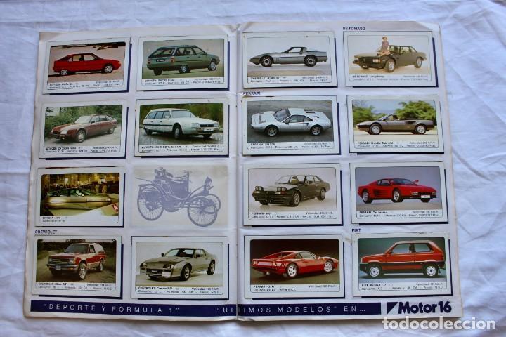 Coleccionismo Álbum: ALBUM CROMOS COCHES MOTOR 16 EDICIONES UNIDAS COMPLETO - Foto 5 - 195391428
