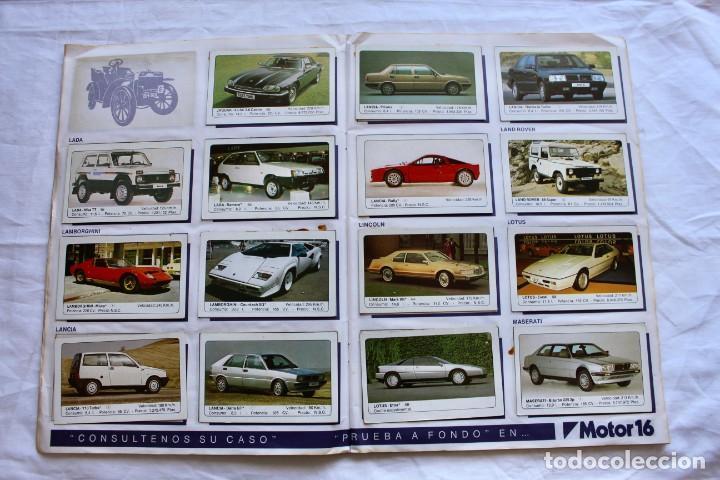 Coleccionismo Álbum: ALBUM CROMOS COCHES MOTOR 16 EDICIONES UNIDAS COMPLETO - Foto 7 - 195391428