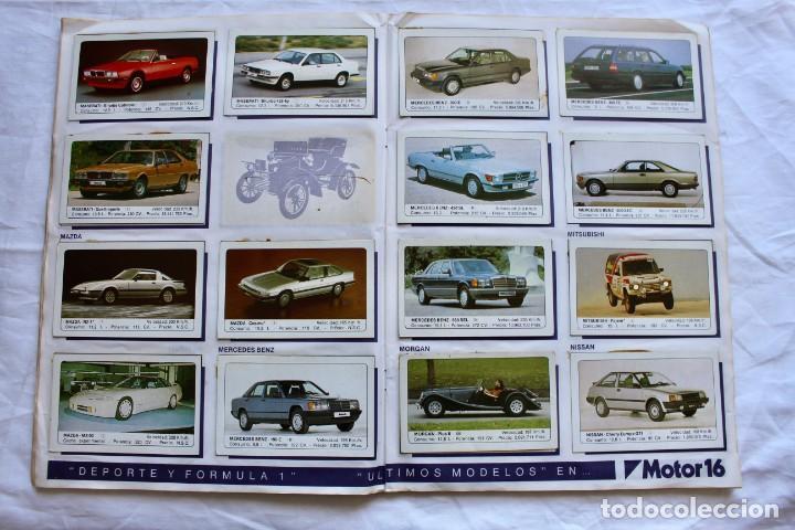 Coleccionismo Álbum: ALBUM CROMOS COCHES MOTOR 16 EDICIONES UNIDAS COMPLETO - Foto 8 - 195391428