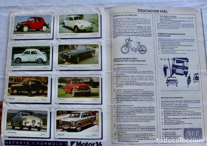 Coleccionismo Álbum: ALBUM CROMOS COCHES MOTOR 16 EDICIONES UNIDAS COMPLETO - Foto 9 - 195391428