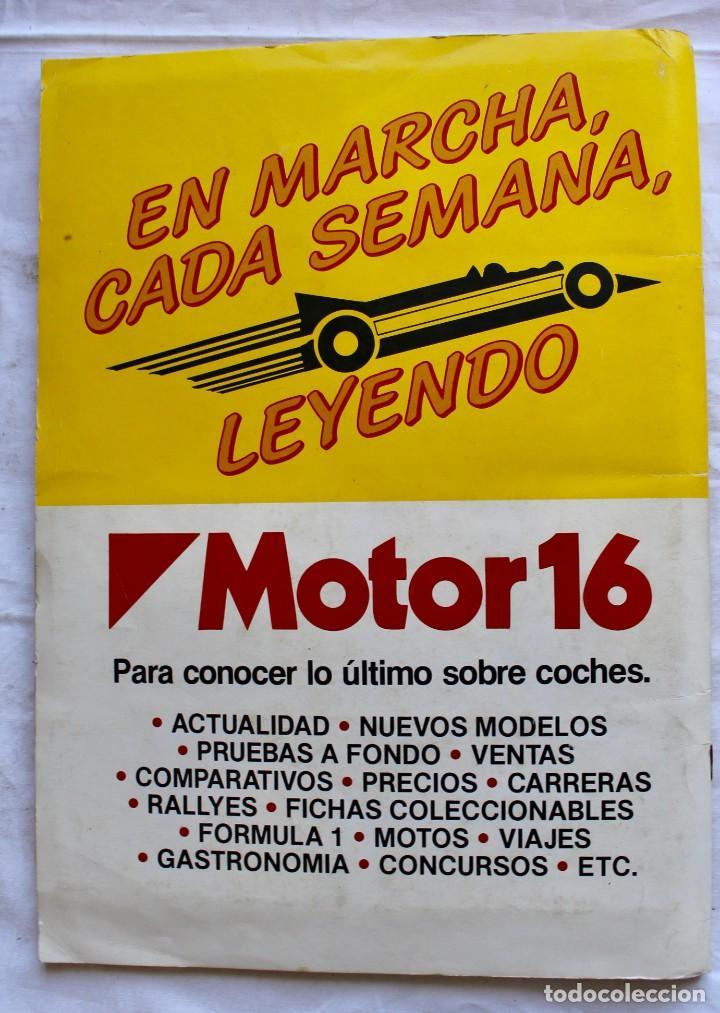 Coleccionismo Álbum: ALBUM CROMOS COCHES MOTOR 16 EDICIONES UNIDAS COMPLETO - Foto 11 - 195391428